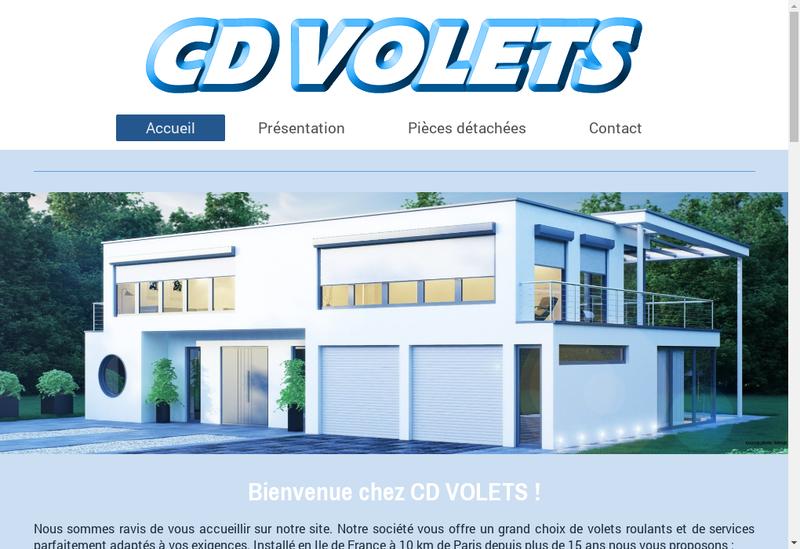 Capture d'écran du site de CD Volets