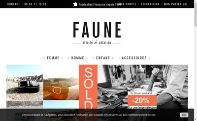 Site internet de Faune, Ceintures Cuir