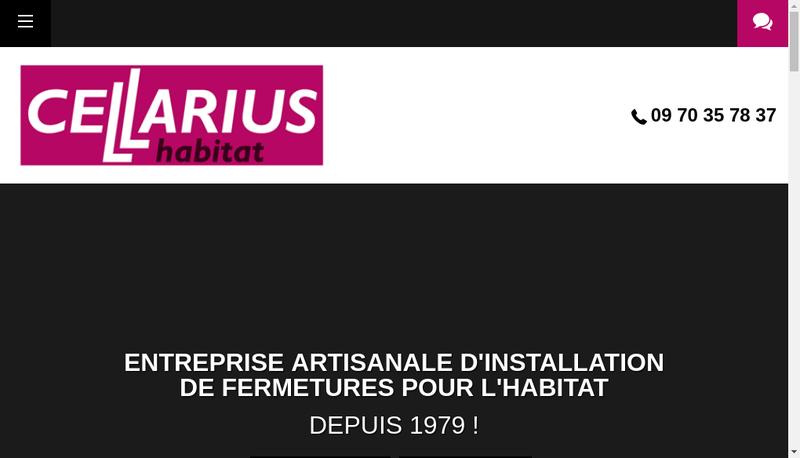 Capture d'écran du site de Cellarius Habitat