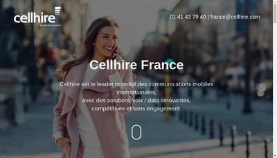 Site internet de Cellhire France