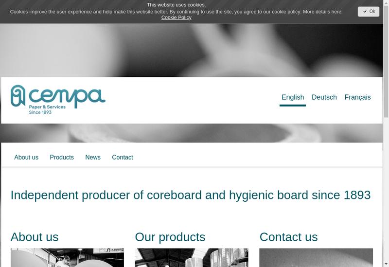 Capture d'écran du site de Cenpa
