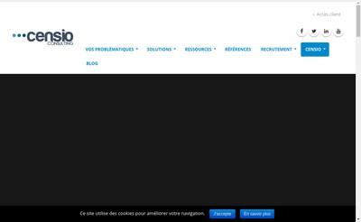 Site internet de Censio
