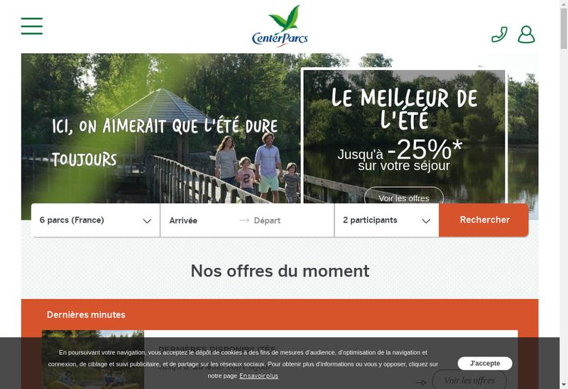 Capture d'écran du site de Villages Nature Val Europe SAS
