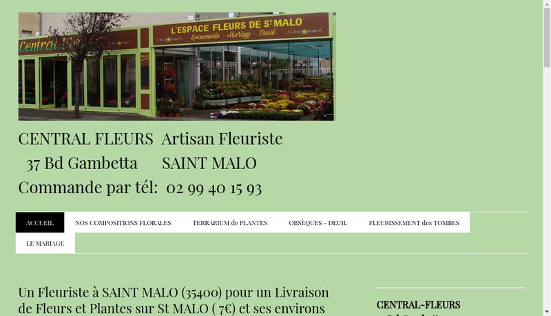 Capture d'écran du site de Fleurs d'Emeraude
