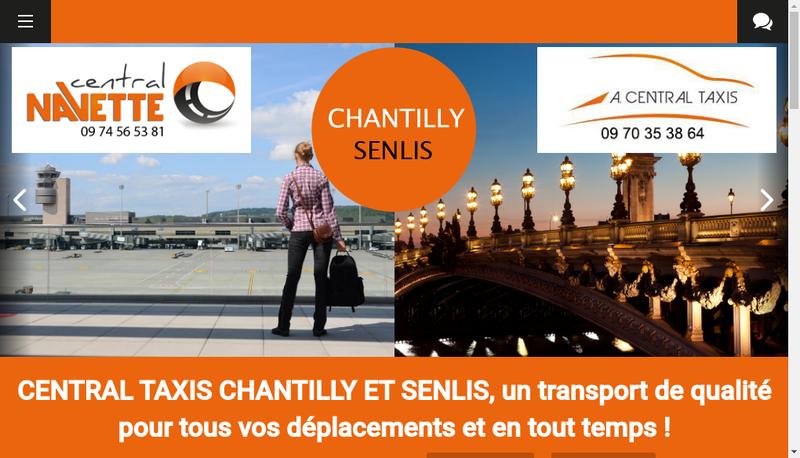 Capture d'écran du site de Abbaye Central Taxis Chantilly Senlis