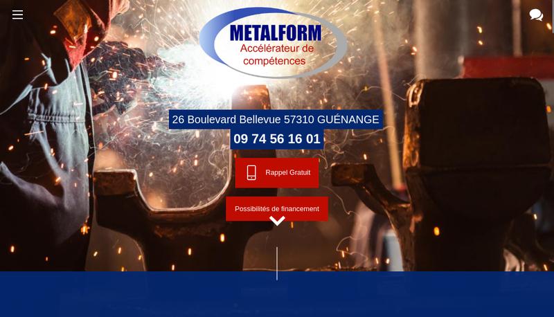 Capture d'écran du site de Metal Form