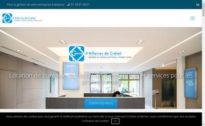 Site internet de Centre d'Affaires de Creteil