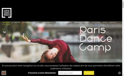Site internet de Centre de Danse du Marais