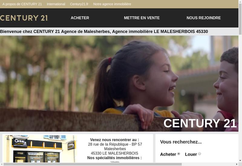 Capture d'écran du site de Eole Immobilier