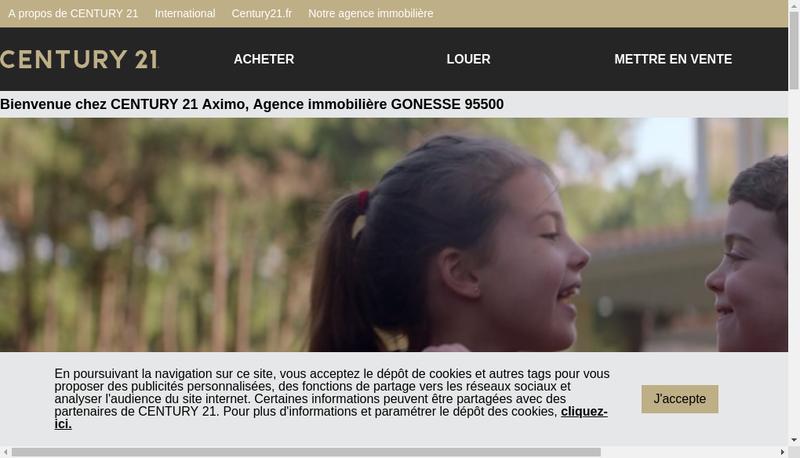 Capture d'écran du site de Aximo