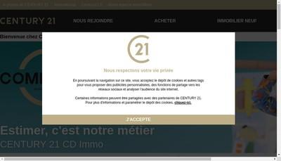 Site internet de CENTURY 21 CD Immo à Annecy