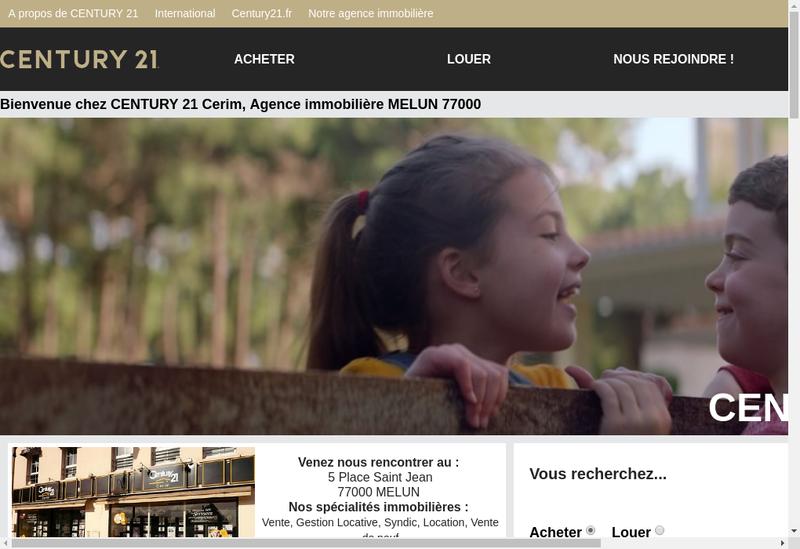 Capture d'écran du site de Century 21