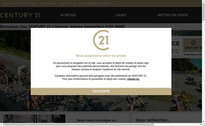 Site internet de Century 21 l'Agence