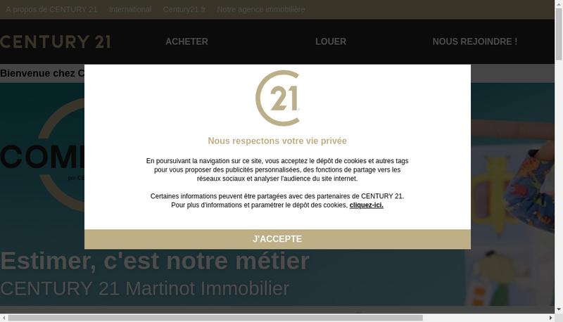 Capture d'écran du site de Century 21 Martinet Immobilier