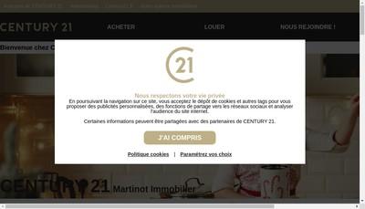 Site internet de Martinot Immobilier