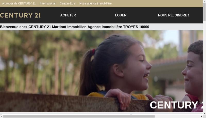 Capture d'écran du site de Century 21 Martinot Imm