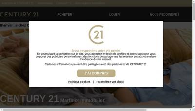 Site internet de Century 21 Martinot Imm