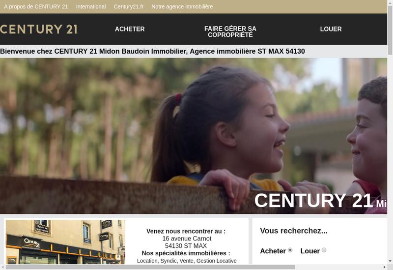 Capture d'écran du site de Midon Baudoin Immobilier