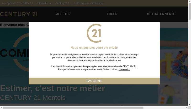 Capture d'écran du site de Century 21 Montois