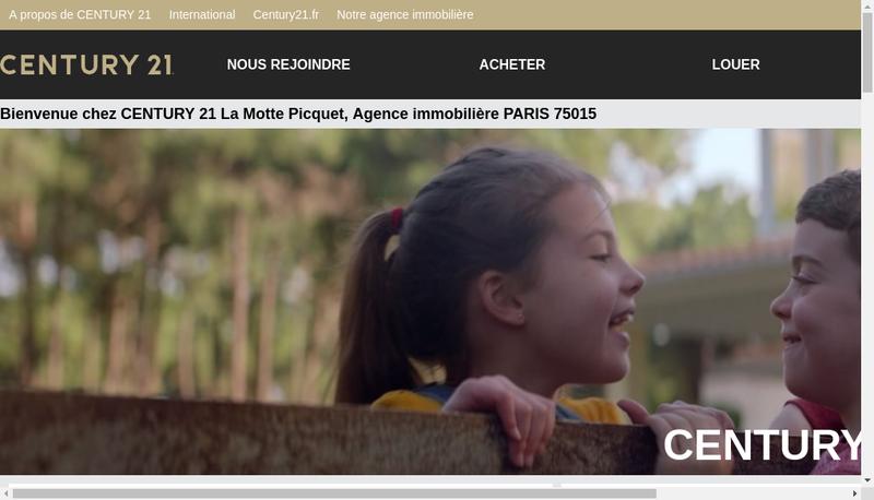 Capture d'écran du site de Century 21 la Motte Picquet