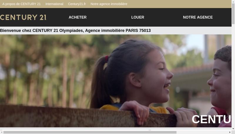 Capture d'écran du site de Century 21 Olympiades