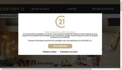 Site internet de Century 21 Republique