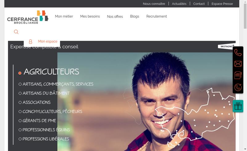 Capture d'écran du site de Cer France Broceliande