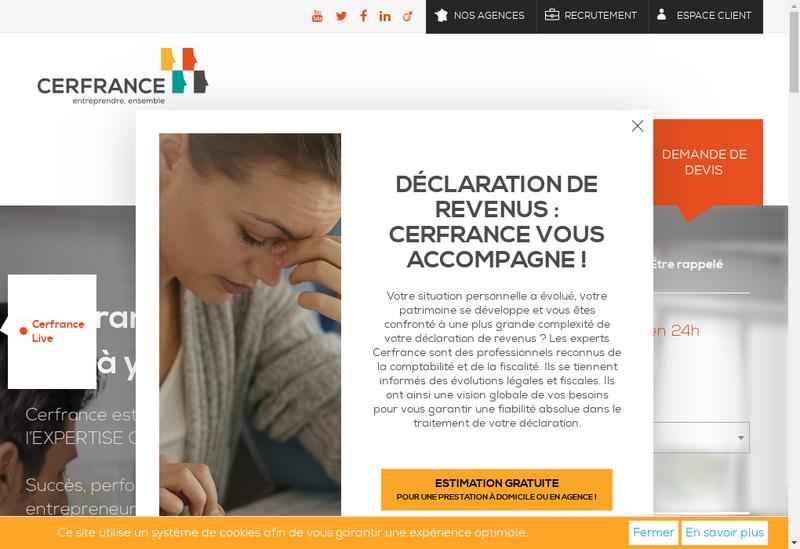 Capture d'écran du site de CER France