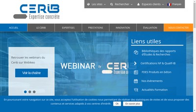 Site internet de Cerib