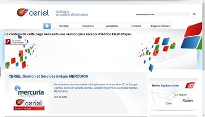 Capture d'écran du site de Ceriel