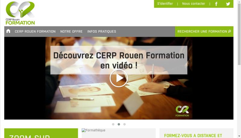 Capture d'écran du site de Cerp Rouen Formation