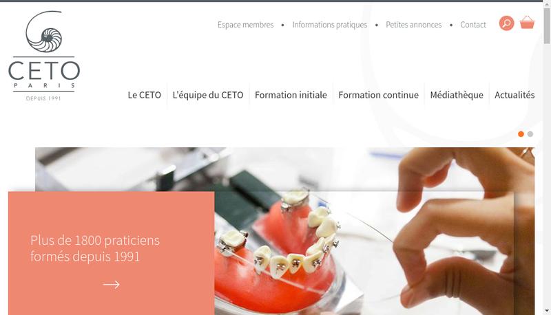 Capture d'écran du site de Cet0 Nord