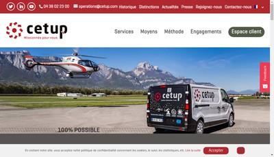 Site internet de Cetup