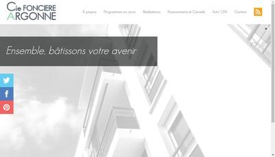Site internet de Compagnie Fonciere Argonne