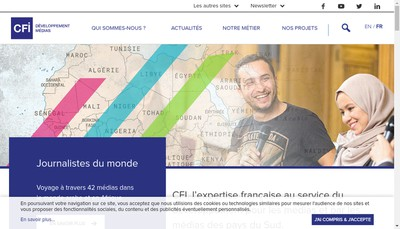Site internet de Transtele - Canal France International