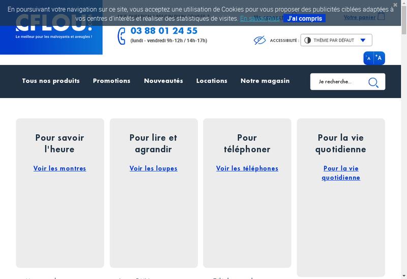Capture d'écran du site de Cflou