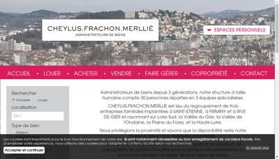 Capture d'écran du site de Cabinet Cheylus Frachon Merllie