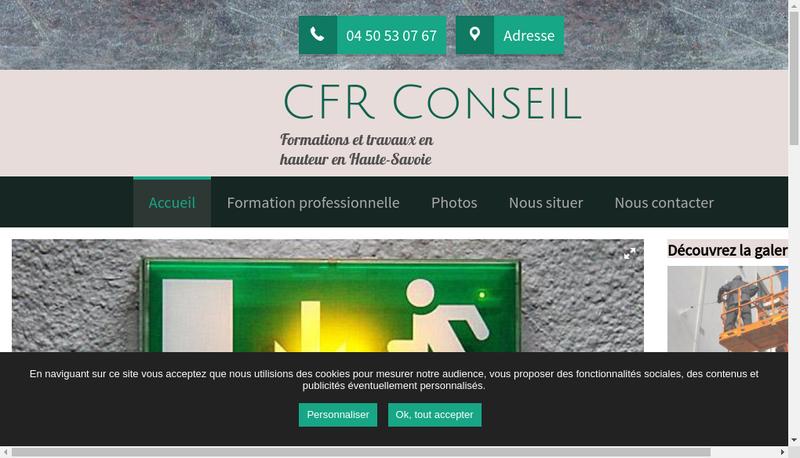 Capture d'écran du site de Cfr Conseil