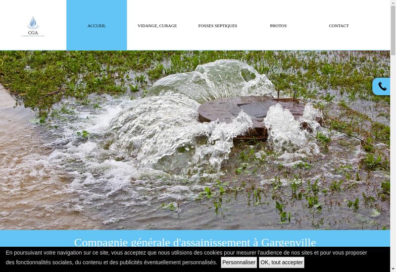 Capture d'écran du site de Compagnie Generale d'Assainissement