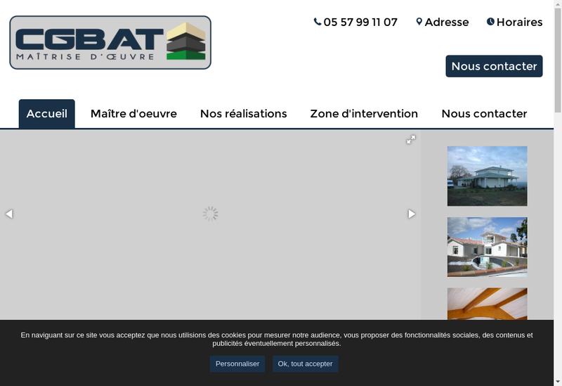 Capture d'écran du site de CG Bat