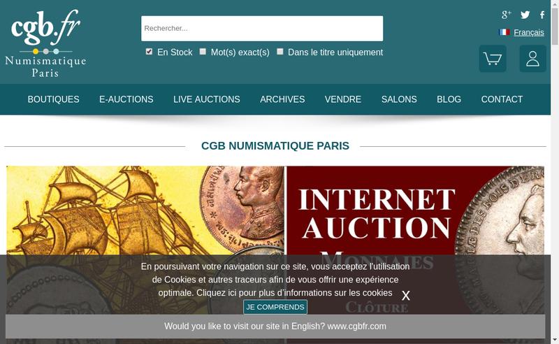 Capture d'écran du site de Librairie Galerie les Chevau Legers