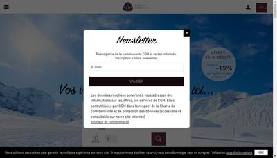 Site internet de Compagnie de Gestion Hoteliere