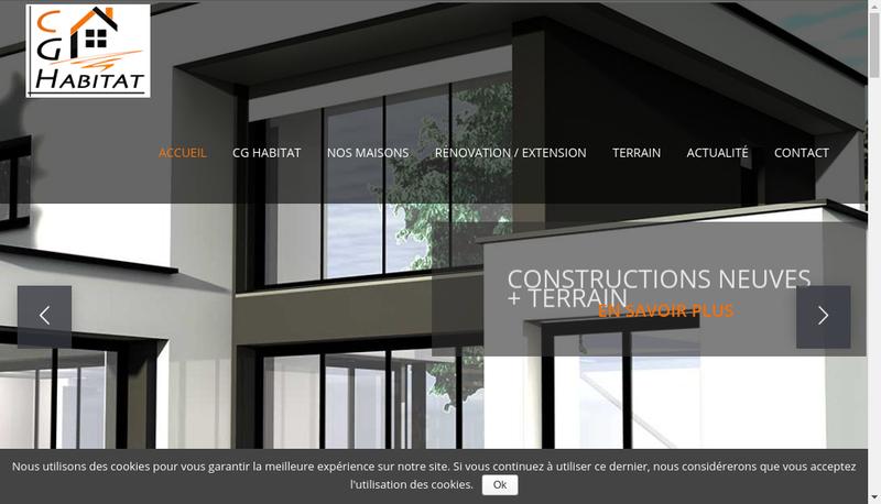 Capture d'écran du site de Cg Habitat