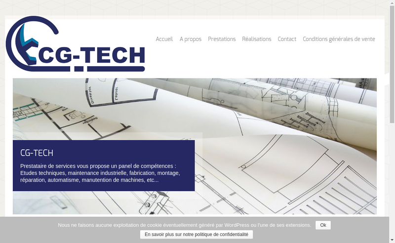Capture d'écran du site de Cg Tech