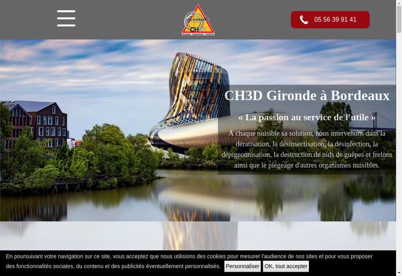 Capture d'écran du site de Ch3D Gironde