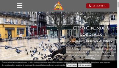 Site internet de Ch3D Gironde