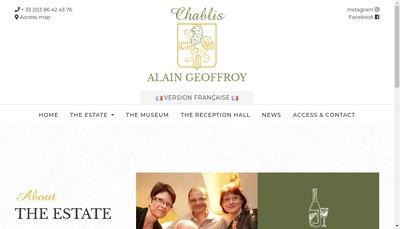 Site internet de SAS Alain Geoffroy