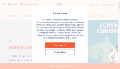 Site internet de Chaine Thermale du Soleil
