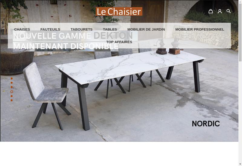 Capture d'écran du site de Le Chaisier