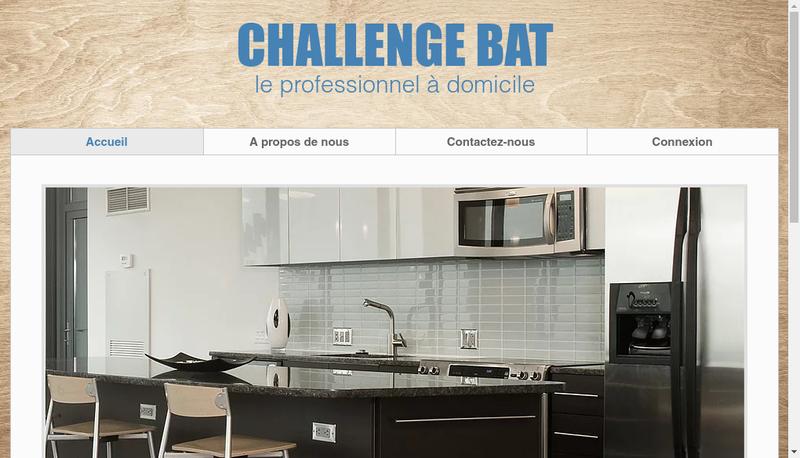 Capture d'écran du site de Challenge Bat